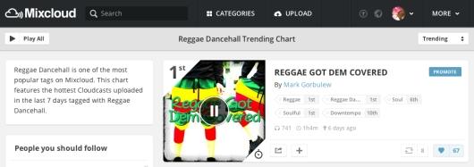 #1 Reggae Dancehall, #1 Reggae,#1 Soulful Chart